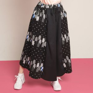 MINT NeKO ロングスカート ネコ ねこ 猫 ポルカドットフレアスカート|hnaoto-gos