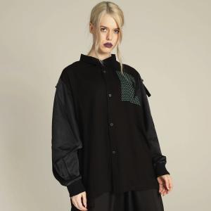 MINT NeKO シャツ ワイド ネコ ねこ 猫 ストラップスリーブシャツ hnaoto-gos