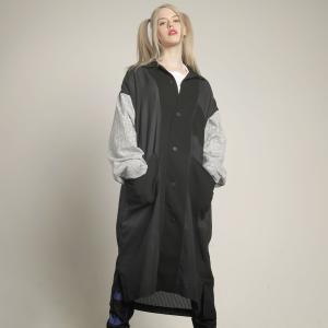 MINT NeKO シャツジャケット ロング丈 ネコ ねこ 猫 パッチワークシャツジャケット hnaoto-gos