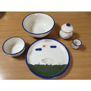 Animal ひつじ食器5点セット(在庫1点限り) HOB-AN-HITUJI-5SET|hobby-life-japan