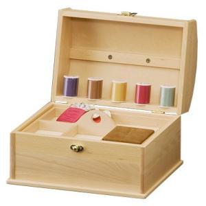 ソーイングボックスBOX カモミール(ナチュラル色・メープル材) KNH-H4366 ケンホープ|hobby-life-japan