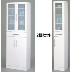 カトレア食器棚2点セット(30-180と60-180)★セット価格★KRO-23461-234622|hobby-life-japan