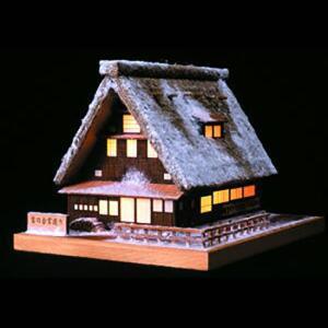 あかりシリーズ No.1雪の合掌造り ウッディジョーの木製模型レーザーカット加工|hobby-life-japan