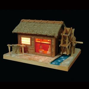 あかりシリーズ No.4カタコト水車小屋 ウッディジョーの木製模型レーザーカット加工|hobby-life-japan