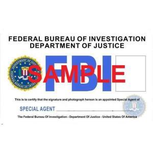 US レプリカ IDカード(FBI) 両面  IDホルダー付 送料164円|hobby-shop-ks