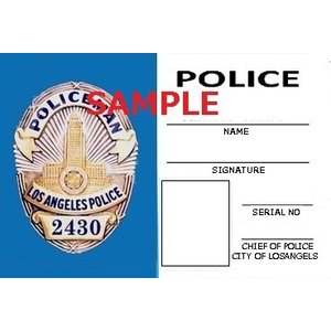 US レプリカ IDカード(LAPD巡査) 両面  IDホルダー付 送料164円|hobby-shop-ks