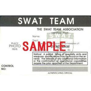 US レプリカ IDカード(LAPD/SWAT) 両面  IDホルダー付 送料164円|hobby-shop-ks