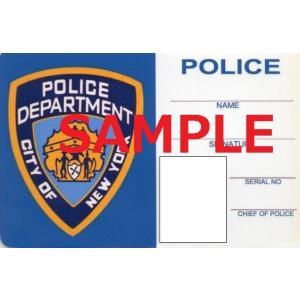 US レプリカ IDカード(NYPD刑事) 両面 IDホルダー付 送料164円|hobby-shop-ks