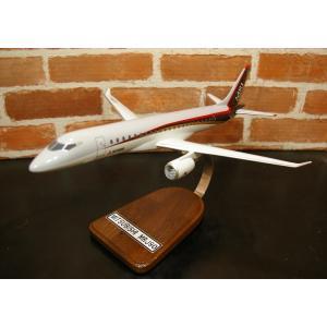 【頑張れ!MRJ】 1/100  Mitsubishi MRJ90(MRJ200)  (三菱航空機MRJ ) 国産リージョナルジェット  木製模型 ソリッドモデル|hobby-shop-ks
