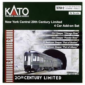 KATO Nゲージ ニューヨーク・セントラル 20世紀特急 4両増結セット 10764-2 鉄道模型 客車 hobby-shoppine