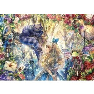 Fantastic Art〜ONINEKO〜 チェシャ猫とアリス(41-725)アポロ 108ピース|hobby-zone-pz