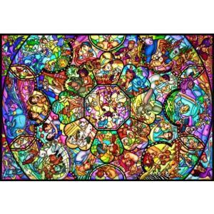ディズニー ステンドアート オールスター ステンドグラス(DS-1000-764) テンヨー 1000ピース ジグソーパズル|hobby-zone-pz