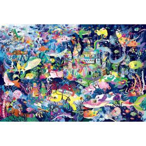 ホラグチカヨ 光るパズル 海底王国の宝探し(12-046)1000ピース エポック|hobby-zone-pz