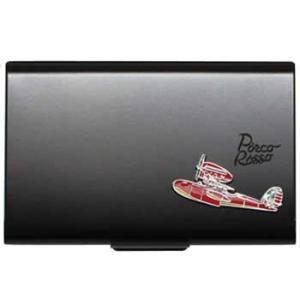 スタジオジブリ 紅の豚 メタルカードケース ブラック(再販) エンスカイ|hobby-zone-pz