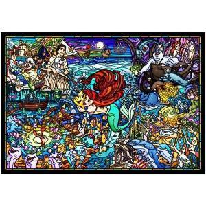 ピュアホワイト リトル・マーメイド ストーリー ステンドグラス(DP-1000-033)1000ピース テンヨー【01月予約】 hobby-zone