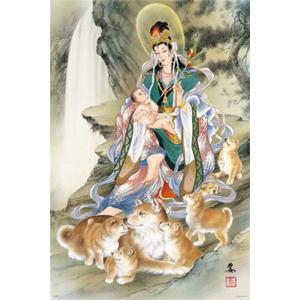 小妻 要 親子戌と鬼子母神 (10-1296)1000ピース やのまん hobby-zone