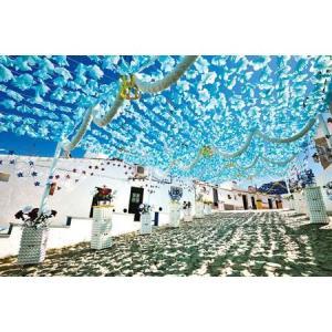 空に舞う水色の花(ポルトガル)(10-1341)1000ピース やのまん【02月予約】 hobby-zone