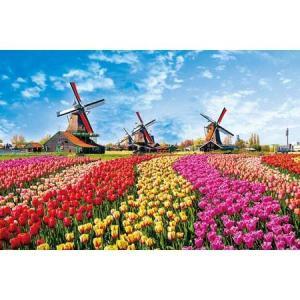 チューリップと風車小屋(オランダ)(10-1342)1000ピース やのまん【02月予約】 hobby-zone