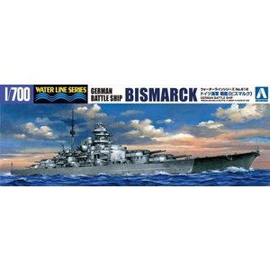 1/700 ウォーターライン No.618 ドイツ海軍戦艦 ビスマルク アオシマ|hobby-zone
