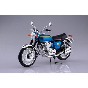 1/12 完成品バイク Honda CB750FOUR(K0) キャンディブルー アオシマ|hobby-zone
