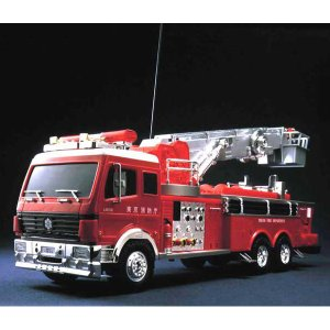 1/18 大型RC建機シリーズ はしご消防車 童友社|hobby-zone