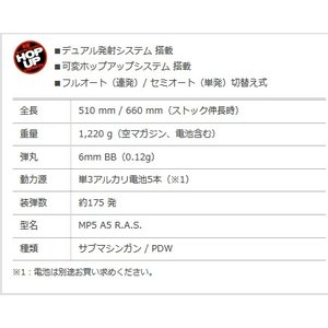 電動ガンLIGHT PROシリーズ No.02 MP5A5 R.A.S. [10歳以上] 東京マルイ hobby-zone 02