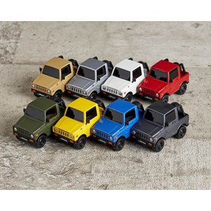 miniQ ミニチュアキューブ 021 デフォルメ軽自動車コレクションジムニー編 1BOX(8個入り) 海洋堂【08月予約】|hobby-zone