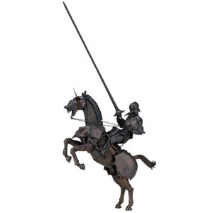 タケヤ式自在置物の西洋甲冑の立体化第2弾は、エクエストリアンアーマー(騎手用甲冑)と鎧をまとった軍馬...