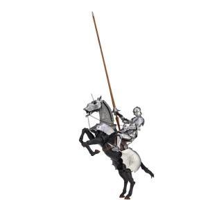 ■タケヤ式自在置物の西洋甲冑の立体化第2弾は、エクストリアンアーマー(騎手用甲冑)と鎧をまとった軍馬...