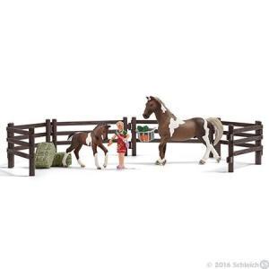 WORLD OF HORSES 21049 馬のエサやりプレイセット(トラケナー馬) シュライヒ|hobby-zone
