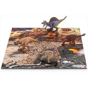 DINOSAURS 42212 ミニ恐竜とジオラマパズルセット 溶岩ゾーン(再販) シュライヒ|hobby-zone