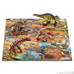 DINOSAURS 42331 ミニ恐竜とジオラマパズルセット 湿原ゾーン シュライヒ|hobby-zone