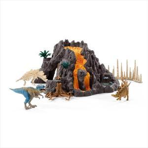 DINOSAURS 42305 大火山とティラノサウルス恐竜ビッグセット シュライヒ|hobby-zone