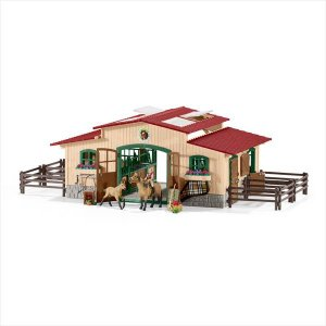 FARM LIFE 42195 大きな厩舎プレイセット(馬付き) シュライヒ|hobby-zone