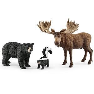 WILD LIFE 41456 北米の森に住む動物 シュライヒ|hobby-zone