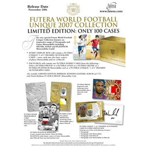 WORLD FOOTBALL UNIQUE 2007 COLLECTION 1パック(6枚入り) FUTERA|hobby-zone