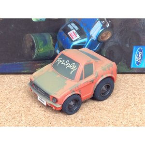 チョロQ (targa)《OLD GARAGE》フォード マスタング【ダスティ (ほこり)】オレンジ|hobby1987