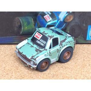 チョロQ (targa)《OLD GARAGE》フォード マスタング【板金中】ライトグリーンメタリック|hobby1987