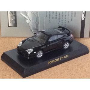 1/64 京商 ポルシェ ミニカー コレクションII《ポルシェ 911 GT2 (996 2002)》ブラック (箱・カード付き)|hobby1987