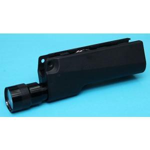 170ルーメンLEDライト付 G&P GP-TAL002 MP5 LEDフラッシュライト付きハンドガード BK 各社MP5シリーズ 検)VFC KSC KING ARMS