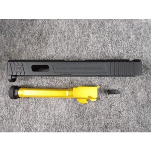 マルイ G17用  Sailient Arms  G17 Tier 1 マッチ フルート ボックスバレル アルミスライドセット(BK)|hobbyshopkidsdragon