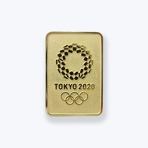 東京2020オリンピックエンブレムのピンバッジです。(本体金色)  金の金属色を生かしてデザインした...