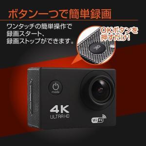 アクションカメラ バイク 4K 1200万画素 WiFi スポーツカメラ バイク用小型カメラ フルハイビジョン 防水 1080P 30M防水 HDMI GoPro|hobinavi|07