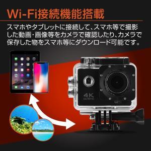 アクションカメラ バイク 4K 1200万画素 WiFi スポーツカメラ バイク用小型カメラ フルハイビジョン 防水 1080P 30M防水 HDMI GoPro|hobinavi|09