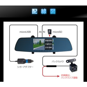 ドライブレコーダー 前後2カメラ 一体型 ミラー型 バックモニター バック連動 あおり運転 対策 液晶 5インチ Gセンサー ドラレコ フルHD 駐車監視 広角 hobinavi 19