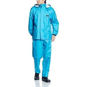 [ドキュメント] レインスーツ 上下セット 防水 総裏メッシュ オールマインドスーツ ターコイズ LL hobipoke
