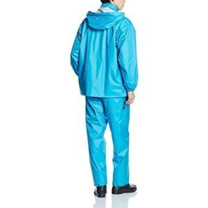 [ドキュメント] レインスーツ 上下セット 防水 総裏メッシュ オールマインドスーツ ターコイズ 3L hobipoke