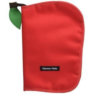 ハンナフラ(Hanna Hula) 母子手帳ケース(マルチケース) Lサイズ アップルレッド|hobipoke