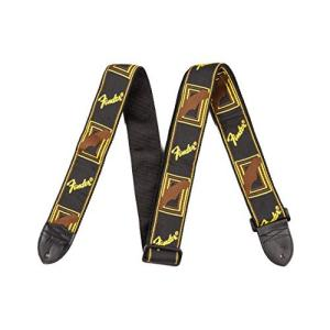 Fender ストラップ FenderR 2  Monogrammed Strap Black/Yellow/Brown|hobipoke