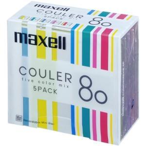 maxell 音楽用 MD 80分ストライプデザイン 「クーレ」シリーズ カラーMIX 5枚 CUMD80MIXB.5P|hobipoke